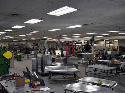 Sheet Metal Fabrication Indoors